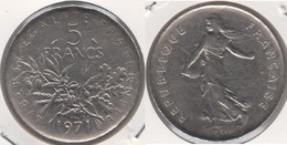 Francia 5 Francs 1971 Km#926a.1 - Used - Francia