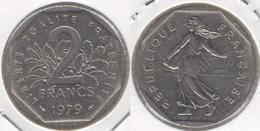 Francia 2 Francs 1979 KM#942.1 - Used - Francia
