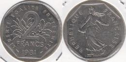 Francia 2 Francs 1981 KM#942.1 - Used - Francia