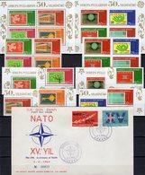 NATO 1969 Türkei 3491/8,VB+Bl.58/9 **,1899/0 FDC 78€ CEPT Flagge Hb Stars Flags Blocs S/s Sheets Bf 50 Year Türkiye - 1921-... République
