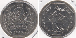 Francia 2 Francs 1982 KM#942.1 - Used - Francia