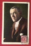 WOODROW WILSON PRESIDENTE DEGLI U.S.A. CARTOLINA VIAGGIATA  DA FOGGIA A DYON CÔTE-D'OR 25/7/18 - Cartoline