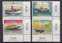Faroe Islands 1992 Mail Ships 4v (corners, Issue Number) ** Mnh (41314B) - Faeroër