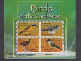 Saint Vincent Et Grenadines 2007 Oiseaux 5001-4 4 Val ** MMH - St.Vincent & Grenadines