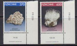 Faroe Islands 1992 Minerals 2v (corners, Issue Number) ** Mnh (41314C) - Faeroër