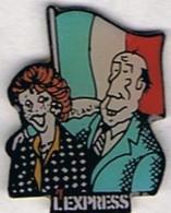 L'EXPRESS - Couple Et Drapeau Français - Medias