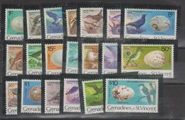 Saint Vincent Et Grenadines 1978 Oiseaux 122-41 20 Val ** MMH - St.Vincent & Grenadines