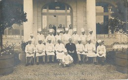 CARTE PHOTO : AIX-LES-BAINS LE SPLENDIDE HOTEL ROYAL SPLENDID LES CUISINIERS 1919 SAVOIE - Aix Les Bains