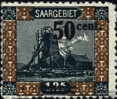 Saarland 78 MNH 1921 Paesaggi II - 1920-35 Saargebiet – Abstimmungsgebiet