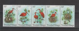 Trinidad Et Tobago 1980 Oiseaux 413-17 5 Val ** MMH - Trinidad & Tobago (1962-...)