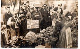 Paris : Petits Métiers : Les Halles : Carte-photo De Marchande De Légumes 1907 - Petits Métiers à Paris