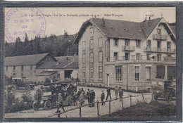 Carte Postale 88. Col De La Schlucht  Autobus Devant L'Hotel Des Français  Très Beau Plan - France