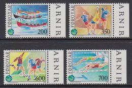 Faroe Islands 1989 Sports 4v (+margin) ** Mnh (41314E) - Faeroër