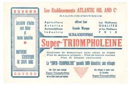 Buvard Etablissements Atlantic Oil & And Co, Salon De Provence, Huile Super-Triompholeine - Automobile