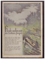 Dt- Reich (006158) Propaganda Liederkarte Farbig, Heute Wollen Wir Ein Liedlein Singen, Ungebraucht - Deutschland