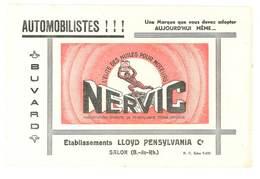 Buvard Nervic, L'élite Des Huiles Pour Moteurs, Salon De Provence, Ets Lloyd Pensylvania Co - Automobile