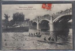 Carte Postale 93. Saint-Ouen Course Aux Canards Sauveteurs De La Croix Rouge Sur La Seine   Très Beau Plan - Saint Ouen
