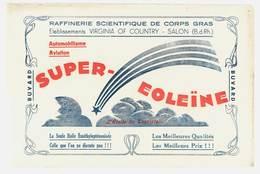 Buvard Huile Super-Eoleïne, Salon De Provence, Ets Virginia Of Country, Automobiles, Aviation - Automotive