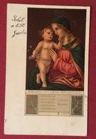 LEGA EUCARISTICA MILANO  MADONNA CON BAMBINO LUINO MILANO  DA FIRENZE A LUCCA 1/5/1901 - Cartoline