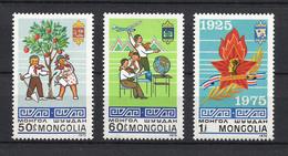 MONGOLIA 1975  **  Mongolian Pioneers **  MONGOLEI ** MNH   ** Mich. 941 - 943  / Scott 848 - 850 - Mongolia