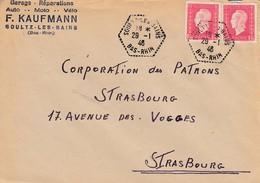 Env Affr Y&T 691 X 2 Obl SOULTZ LES BAINS Du 29 1.46 Adressée à Strasbourg - 1877-1920: Période Semi Moderne