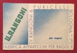 FABBRICA APPARECCHI PER RACCI X U.RANGONI DI RANGONI & PURICELLI BOLOGNA CARTOLINA PUBBLICITARIA N.V. - Cartoline