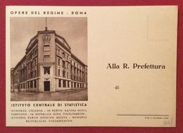 CARTOLINA OPERE DEL REGIME ROMA ISTITUTO CENTRALE DI STATISTICA N.V. - Cartoline