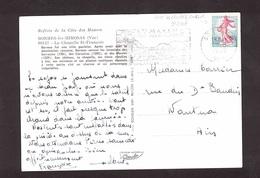 France Variété N° 1233 Décalage Couleur Oblitéré Sur Carte Postale Postée En 1962 - Variétés Et Curiosités