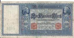 ALLEMAGNE 100 MARK 1908 VG P 33 - [ 2] 1871-1918 : German Empire