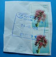 2018 October 10, Albania  2 Stamps ALBANIAN FLORA Seal KUKES - Albania