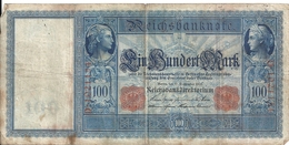 ALLEMAGNE 100 MARK 1909 VF P 38 - [ 2] 1871-1918 : German Empire