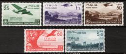 Italia Regno 1936 Sass.A95/99 **/MNH VF/F - Nuovi