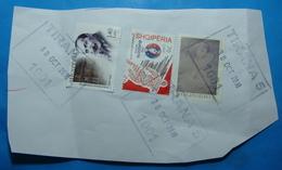2018 October 30, Albania  3 Stamps STEFAN ZWEIG, NUDE ARTS And EURO FOOTBALL 2016 FRANCE Seal TIRANA - Albania