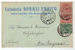 Cartolina Commerciale Calzoleria Borasi Enrico Novi Ligure - Alessandria