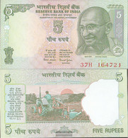 India PiCk-number: 88A C, Letter R Uncirculated 2002 5 Rupees - India