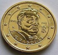 ITALIE 2012 - 2 EUROS COMMEMORATIVE - PASCOLI - PLAQUE OR - Italie