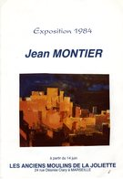 PLAQUETTE EXPO JEAN MONTIER MARSEILLE 1984 + LETTRE REMERCIEMENT  Autographe(,datée & Signée De L'artiste) - Altre Collezioni