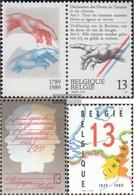 Belgien 2379Zf,2389,2390 (completa Edizione) MNH 1989 Human Rights - Nuevos