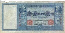 ALLEMAGNE 100 MARK 1910 VG+ P 42 - [ 2] 1871-1918 : German Empire