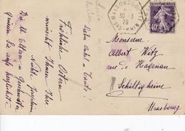 CP Affr Y&T 236 Obl MAISONSGOUTTES Du 30.3.29 Adressée à Schiltigheim - Marcophilie (Lettres)