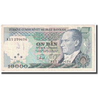 Billet, Turquie, 10,000 Lira, 1982, KM:199, TTB - Turquie