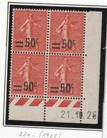 France Coin Daté Du Numéro 220 De 25  Sans Charniére ** Luxe - ....-1929