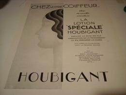 ANCIENNE PUBLICITE PARFUM LOTION DE  HOUBIGANT 1931 - Other