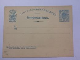 LUXEMBOURG - 1882 Postal Stationary Card Carte Correspondance -  121/2c - Ganzsachen