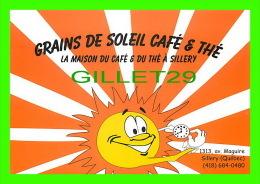ADVERTISING - PUBLICITÉ - GRAINS DE SOLEIL CAFÉ & THÉ, SILLERY, QUÉBEC - POP MÉDIA No 315 - - Publicité