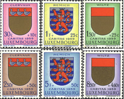 Luxembourg 612-617 (complete Issue) Unmounted Mint / Never Hinged 1959 Luxembourg Crest - Luxemburg