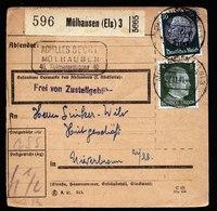 A5697) Elsass Paketkarte Mülhausen 27.11.41 MiF Hindenburg / AH - Besetzungen 1938-45