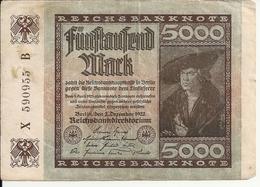 ALLEMAGNE 5000 MARK 1922 VF P 81 - [ 3] 1918-1933 : Weimar Republic