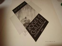 PUBLICITE PARFUM ROGER&GALLET Pavots D Argent 1930 - Other