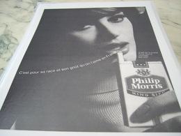 ANCIENNE PUBLICITE CIGARETTE PHILIP MORRIS 1968 - Tabac (objets Liés)